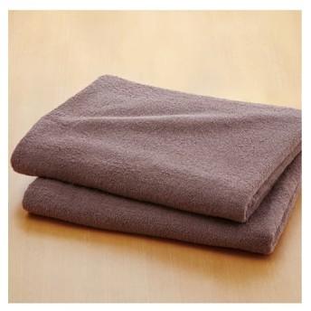 乾きやすいデイリーカラー超薄手大判バスタオル同色2枚セット (約)90×150cm タオル