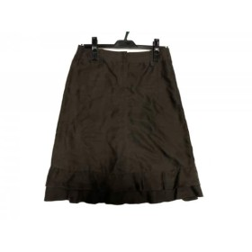 【中古】 アルマーニコレッツォーニ ARMANICOLLEZIONI スカート サイズ38 S レディース カーキ