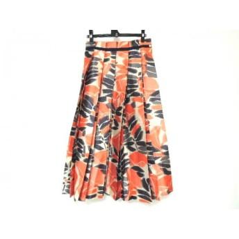 【中古】 ドゥロワー Drawer ロングスカート サイズ38 M レディース ベージュ オレンジ ダークネイビー