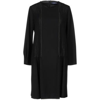 《セール開催中》BALLANTYNE レディース ミニワンピース&ドレス ブラック 42 ポリエステル 52% / バージンウール 43% / ポリウレタン 5%