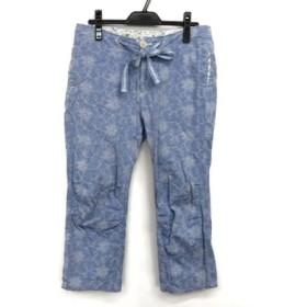 【中古】 ジーンナッソーズ JEAN NASSAUS パンツ サイズ3 L レディース ブルー アイボリー