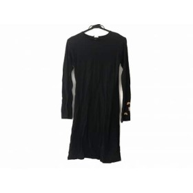 【中古】 アニエスベー ワンピース サイズ2 M レディース ダークグレー イエロー マルチ フラワー/刺繍