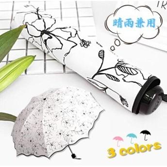 【協和屋】日傘 晴雨兼用 レディース 散歩 雨傘 コンパクト 折りたたみ ショートワイド傘 UVカット かさ レイングッズ 大きい日傘 軽量