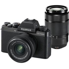 富士フイルム FX-T100WZLKB ミラーレス一眼カメラ「FUJIFILM X-T100」ダブルズームレンズキット(ブラック)[FXT100WZLKB]【返品種別A】