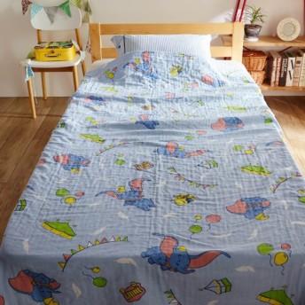 タオルケット ガーゼケット ディズニー 4重 ケット 洗える 綿100% お昼寝 ダンボ ハーフ