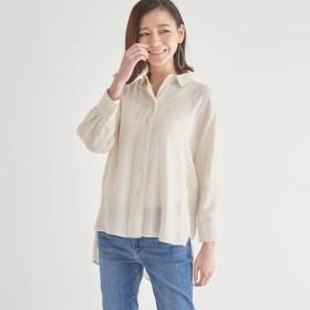 チュニック シャツ リネン レディース 大きいサイズ 40代 30代 7分袖 おしゃれ きれいめ エレガント オフホワイト S M L LL 3L