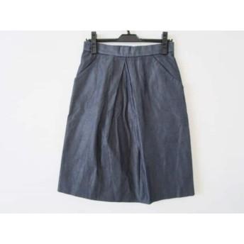 【中古】 ドゥロワー Drawer スカート サイズ36 S レディース ダークネイビー