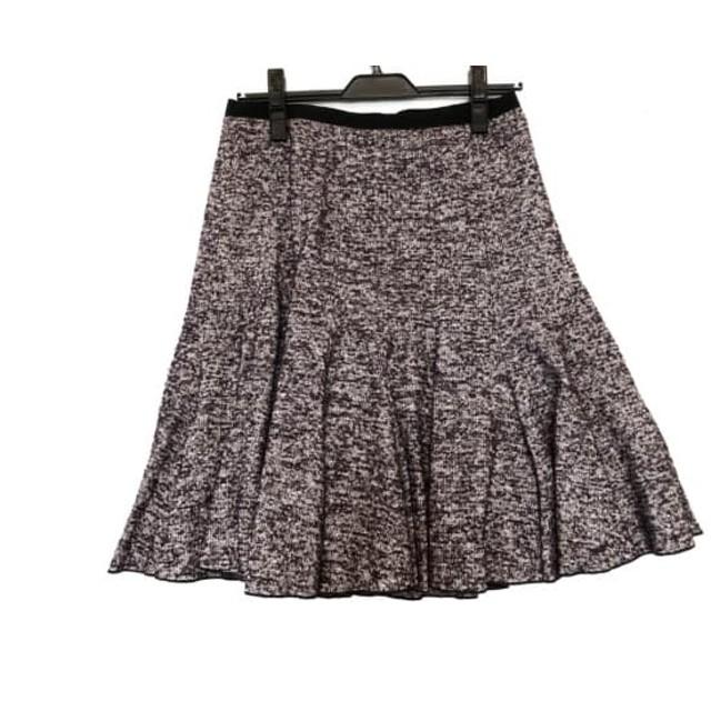 【中古】 ポールカ PAULEKA スカート サイズ38 M レディース 美品 パープル 白 黒