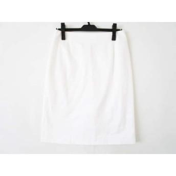 【中古】 ランバン LANVIN スカート サイズ40 M レディース 白 collection