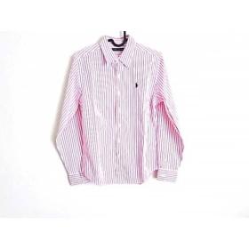【中古】 ラルフローレン 長袖シャツブラウス サイズ9 M レディース 美品 白 ピンク ストライプ