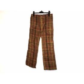 【中古】 ラルフローレン RalphLauren パンツ サイズ9 M レディース 美品 ブラウン レッド カーキ