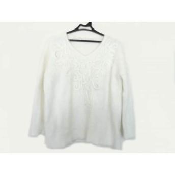 【中古】 グレースコンチネンタル GRACE CONTINENTAL 長袖セーター サイズ36 S レディース 白