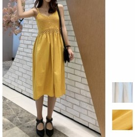 韓国 ファッション レディース ワンピース 夏 春 カジュアル naloE319 マキシワンピース リゾートワンピース ハワイ クロシェ風 サマーニ