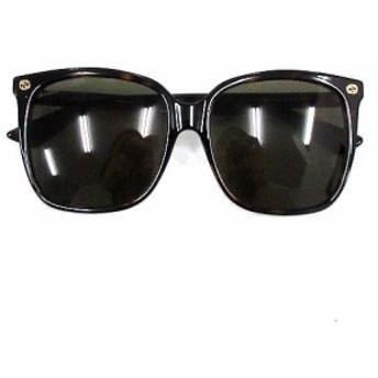 【中古】グッチ GUCCI サングラス 眼鏡 ボスリントン アレッサンドロ ミケーレ GG0022SA 57□16 145 茶 メンズ レディース