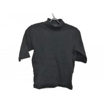 【中古】 アニエスベー agnes b 半袖セーター サイズ2 M レディース 黒 ハイネック