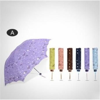 【協和屋】日傘 晴雨兼用 ワンタッチ レディース 散歩 雨傘 コンパクト 折りたたみ ショートワイド傘 UVカット かさ レイングッ