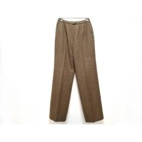【中古】 レリアン Leilian パンツ サイズ11 M レディース ブラウン ツイード