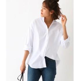 aquagirl / アクアガール ストレッチブロード  オーバーサイズシャツ
