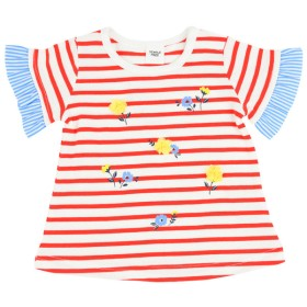 [ベビー]シンプルフリー 半袖Tシャツ 袖布帛 ベビー・キッズウェア ベビー(70~95cm) トップス(女児) (124)