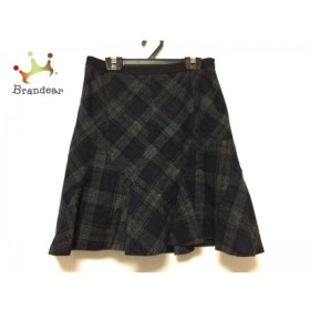 ジャスグリッティー JUSGLITTY スカート サイズ2 M レディース グレー×ネイビー×黒 チェック柄     スペシャル特価 20190803
