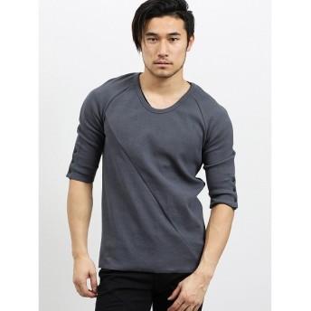[マルイ]【セール】シェラック/SHELLAC テレコUネック7分袖Tシャツ/セマンティックデザイン(semantic design)