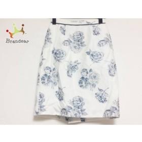 アプワイザーリッシェ スカート サイズ00 XS レディース 白×ネイビー ラメ/花柄     スペシャル特価 20190730