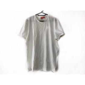 【中古】 ヒューゴボス HUGOBOSS 半袖Tシャツ サイズL メンズ 白