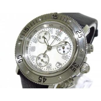 【中古】 エルメス HERMES 腕時計 クリッパーダイバークロノ CL2.310 ボーイズ ホワイトシェル