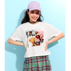 アナップキッズ&ガール(ANAP KIDS&GIRL)/キュートカラーフォトクロップドTシャツ