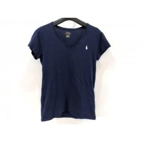 【中古】 ポロラルフローレン POLObyRalphLauren 半袖Tシャツ サイズM レディース ダークネイビー