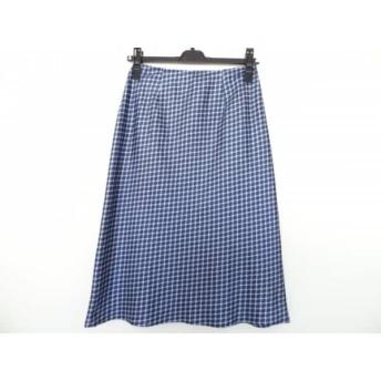 【中古】 ロイスクレヨン Lois CRAYON ロングスカート サイズM レディース ダークネイビー ライトブルー