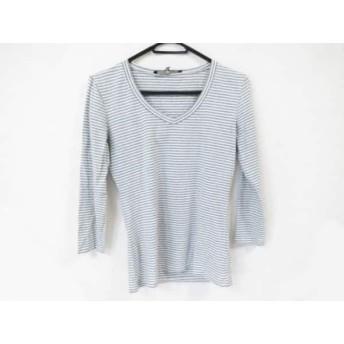 【中古】 マックスマーラウィークエンド Max MaraWEEKEND 七分袖Tシャツ サイズS レディース 白 グレー