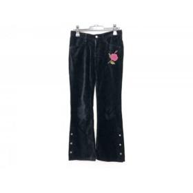 【中古】 マッシュマニア mash mania パンツ サイズ2 M レディース 黒 刺繍