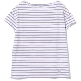 ORCIVAL / ボーダー Tシャツ レディース Tシャツ WHT/LAVENDER 1