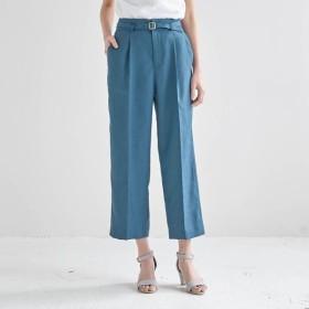 ワイドパンツ パンツ レディース 40代 30代 STYLE SNAP シワになりにくい おしゃれ きれいめ エレガント ブルー