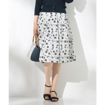 J.PRESS / ジェイプレス 【洗える】デンスフローラルプリント スカート