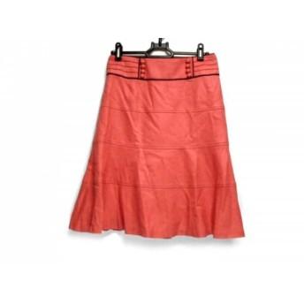 【中古】 ジャスグリッティー JUSGLITTY スカート サイズ2 M レディース ピンク 黒