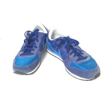 【中古】 ナイキ NIKE スニーカー 26-5 メンズ ジニコ 644441-011 ブルー ネイビー 化学繊維 スエード