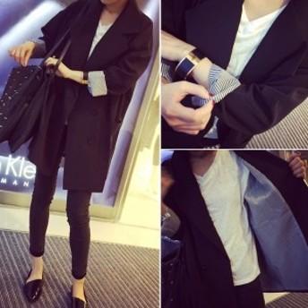 【協和屋】テーラードジャケット アウター スプリングコート ロング スーツ ブラック リクルート レディース フォーマル ビジネス 大きい