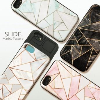iPhoneX iPhone8ケース iPhone7 iPhone7 plus iPhone6s/6 GalaxyS9 ケース ICカード 背面 スライド収納 耐衝撃 おしゃれ