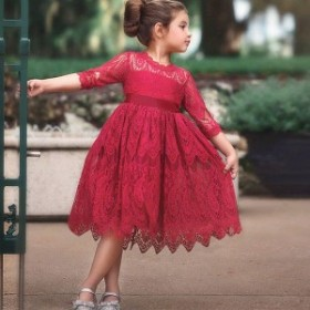 afe90705a2f1a 子供ドレス 女の子 フォーマルワンピース 韓国風 女の子 おしゃれ 長袖 レースワンピースドレスセットお姫様ドレス