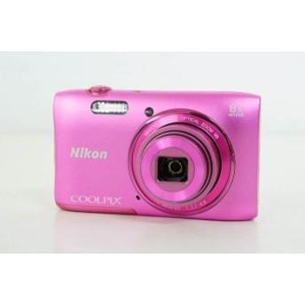 【中古】ニコンNIKON コンパクトデジタルカメラ COOLPIXクールピクス 2005万画素 S3600 PK アザレアピンク