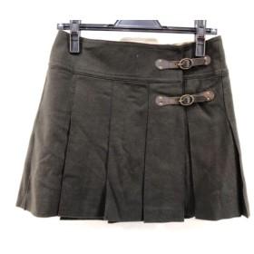 【中古】 バーバリーブルーレーベル 巻きスカート サイズ36 S レディース ダークブラウン