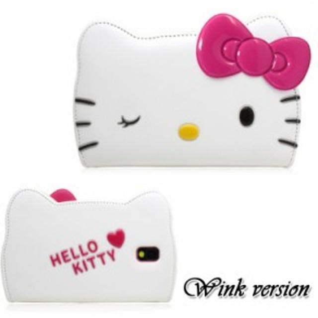 【大人気!】ハローキティーフェイスフリップ-ウィンクver.-  Galaxy S8+ iPhone7+/iPhone8+ スマホケース
