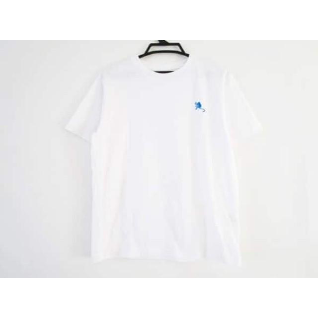 【中古】 ノースフェイス THE NORTH FACE 半袖Tシャツ サイズM メンズ 白 ライトグレー ネイビー