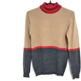 【中古】 シトラスノーツ 長袖セーター サイズS レディース ライトブラウン レッド ダークグレー