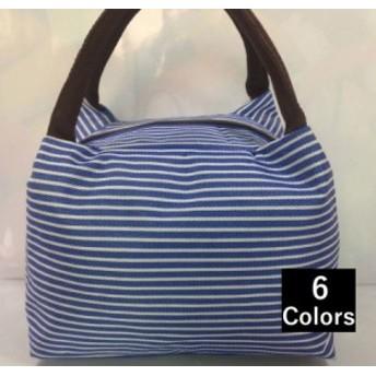 【ゲリラSALE】ハンドバッグ ミニバッグ ランチバッグ サブバッグ バック 鞄 BAG かばん レディース 女性用 ボーダー
