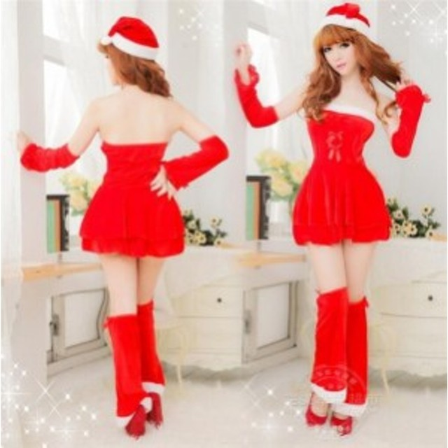 a8d4963664a クリスマス サンタ 女性 レディース 仮装 コスチューム 大人衣装 コスプレ 可愛い セットアップ