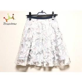 アプワイザーリッシェ スカート サイズ0 XS レディース 白×ベージュ×マルチ 花柄     スペシャル特価 20190731