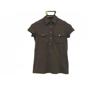 【中古】 セオリー theory 半袖ポロシャツ サイズP M レディース 黒